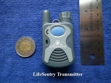 LifeSentry transmitter size